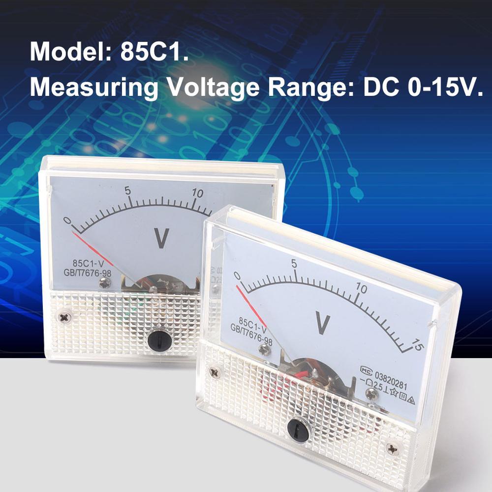 DC 0-15V Analog Volt Voltage Panel Meter Voltmeter Gauge