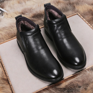 Image 3 - עור אמיתי גברים חורף מגפי קרסול מגפי אופנה הנעלה אתחול נעלי גברים מזדמנים גבוה למעלה גברים נעלי zapatos דה hombre