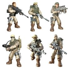City counter-terrorism swat figures building blocks mega modern military soldier super police Corps minifigs weapons toys gifts