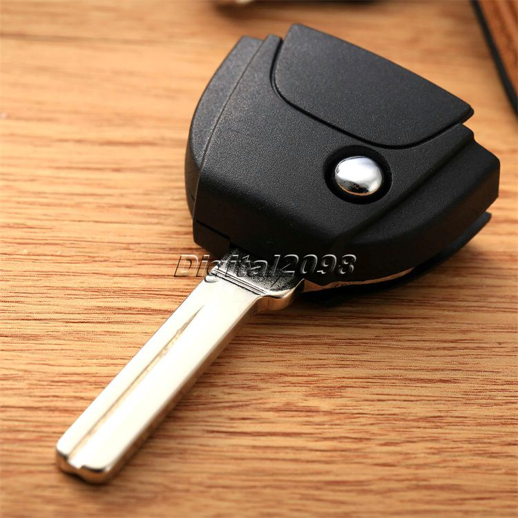 Yetaha Replacement Car Remote Key Case Flip Key Shell Head Part with Uncut Blank Blade Key Cover for VOLVO S60 S80 V70 XC70 XC90