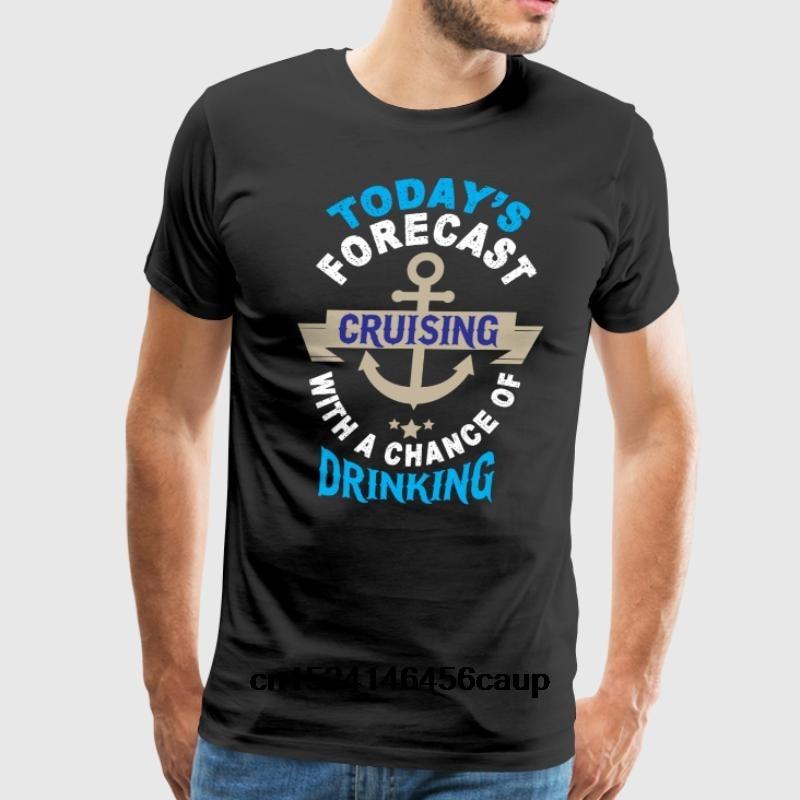 100% Cotton O-neck Custom Printed Men T shirt Today s Forecast Cruising T Shirt Women T-Shirt