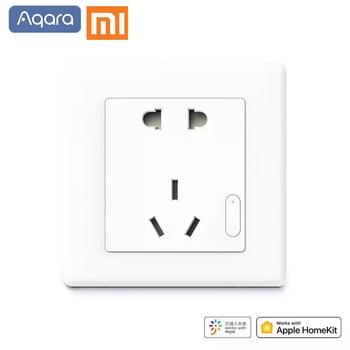 цена на Original Xiaomi Smart home Aqara Smart Light Control ZiGBee Wall Switch Socket Plug Via Smartphone Xiaomi APP Wireless Remote