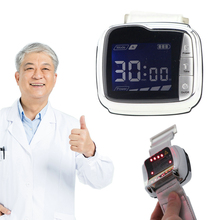 New 22 Beams Cold Laser Therapy Hypertension Laser Blood Irradiation Wrist Watch semiconductor laser therapy heart attack myocardial infarction 13 laser beams cold laser device