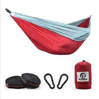 Portable Camping Parachute hamac survie jardin extérieur meubles loisirs dormir voyage Double lit suspendu 270*140cm