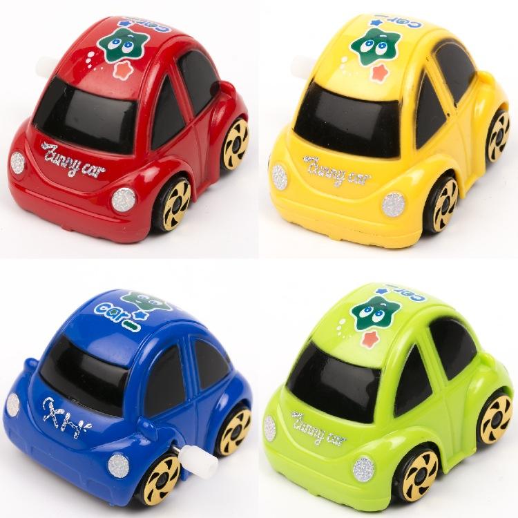 Winding Toy Somersault Car Spring Rotating Tilting Small Car Toy Educational