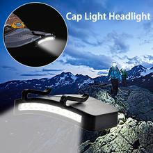 Супер яркий 11 светодиод крышка свет фара налобный фонарь голова фонарик голова кепка шляпа свет клип на свет рыбалка голова лампа