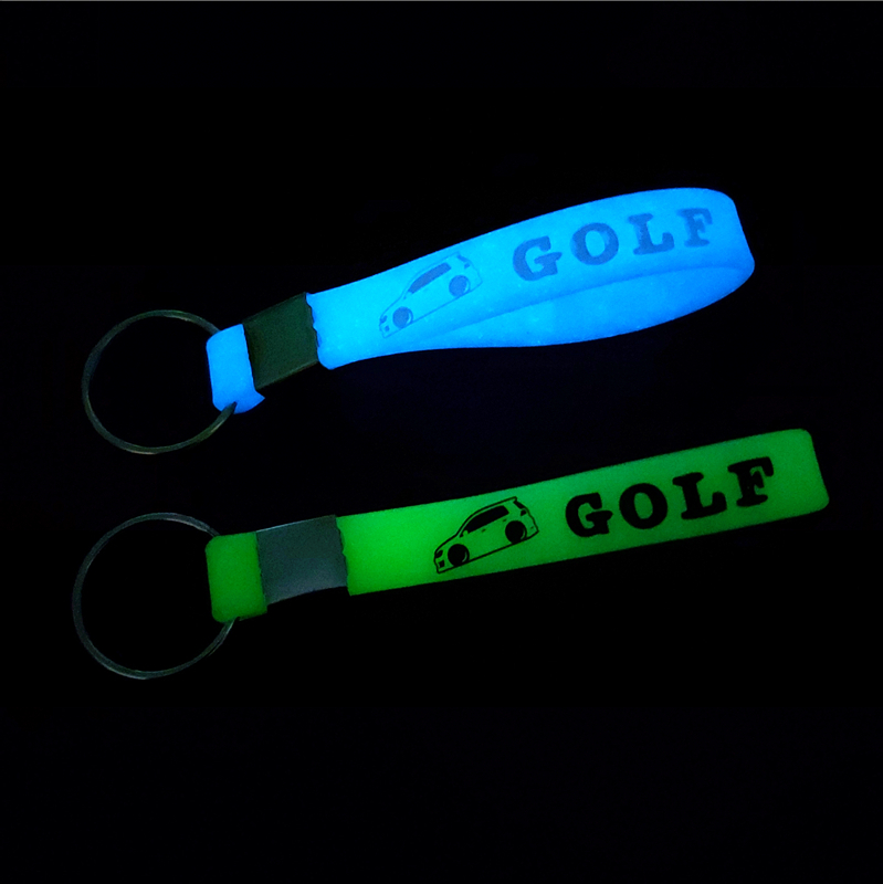 Car Sticker Luminous Key Holder Gift Key Chains KeyRings For Volkswagen VW Golf 6 MK6 2009 2010 2020 Accessories Car Styling