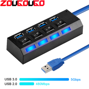 USB Hub 3.0 4/7 Port USB 2.0 H