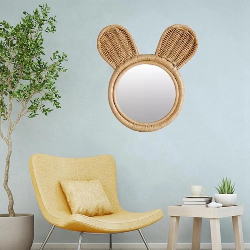 coelho espelho maquiagem espelho de parede pendurado