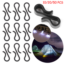 10/20/50pcs S-Shaped Hook Gutter Hooks Heavy Duty Clips Rope Buckle Outdoor Camping Tools New Year Party Lights Decoration Clip