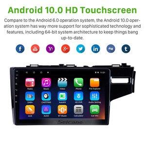 Image 2 - Seicane 10.1 بوصة HD رباعية النواة 2din أندرويد 10.0 راديو السيارة نظام الملاحة لتحديد المواقع مشغل وسائط متعددة ل 2014 2015 هوندا جاز/صالح