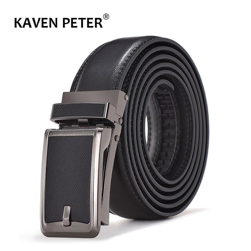 Luxury Brand  Automatic Buckle Black Belts Male Genuine Leather Strap Belts For Men Top Quality Belt Cummerbunds