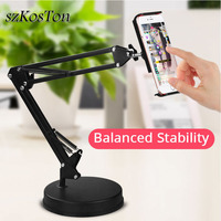 Universal Long Arm Tablet Stand Holder Desk lazy Mobile Phone Bracket Support Mount For iPad iPhone Huawei 360 Degree Support