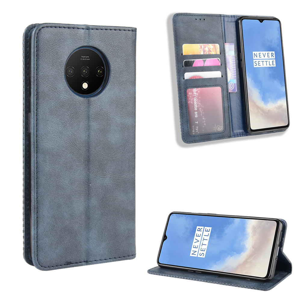 For OnePlus 7T Case One Plus 7T Wallet Flip Style Leather Magnet Phone Back Cover For OnePlus7T 7 T 1+7T With Photo frame