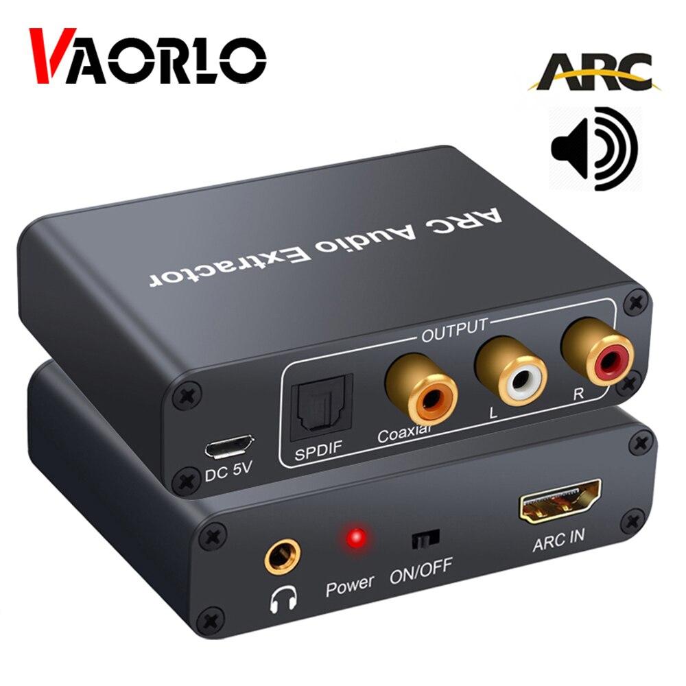 HDMI-совместимый ARC аудио экстрактор аудио адаптер 3,5 мм стерео волокно коаксиальный конвертер для усилителя Саундбар Динамик ТВ 5.1CH