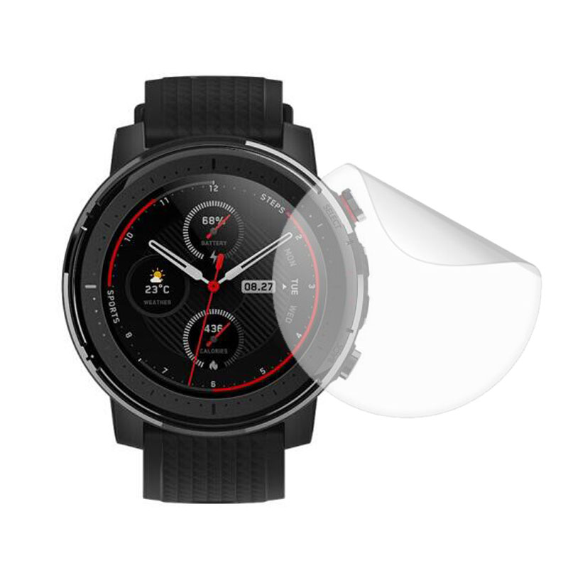 Soft Clear Protective Film Guard For Xiaomi Huami Amazfit Stratos 3 Watch Stratos3 Smartwatch Screen Protector Cover (Not Glass)