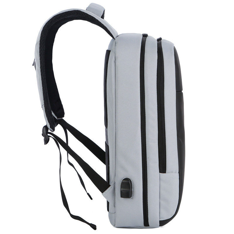 Anti theft backpack USB rechargeable business computer bag waterproof travel backpack for CUHK students - 3