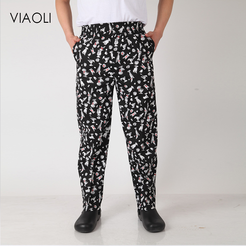 High Quality Hotel Uniform Pant Chef Work Clothes Restaurant Trousers Chef Uniform Chinese Clothes For Men Chef Pants Waitress