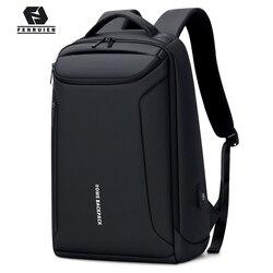 Fenruien nowy plecak wodoodporny Oxford plecaki z portami USB 17 Cal torba na laptopa człowiek podróży plecakiem o dużej pojemności