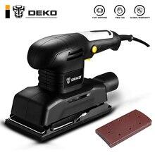 DEKO DKSS01 135W Polishing Machine with 15 Sheets of Sandpaper Wood, Plastic, Metal, Fillers, Coated Polilsh