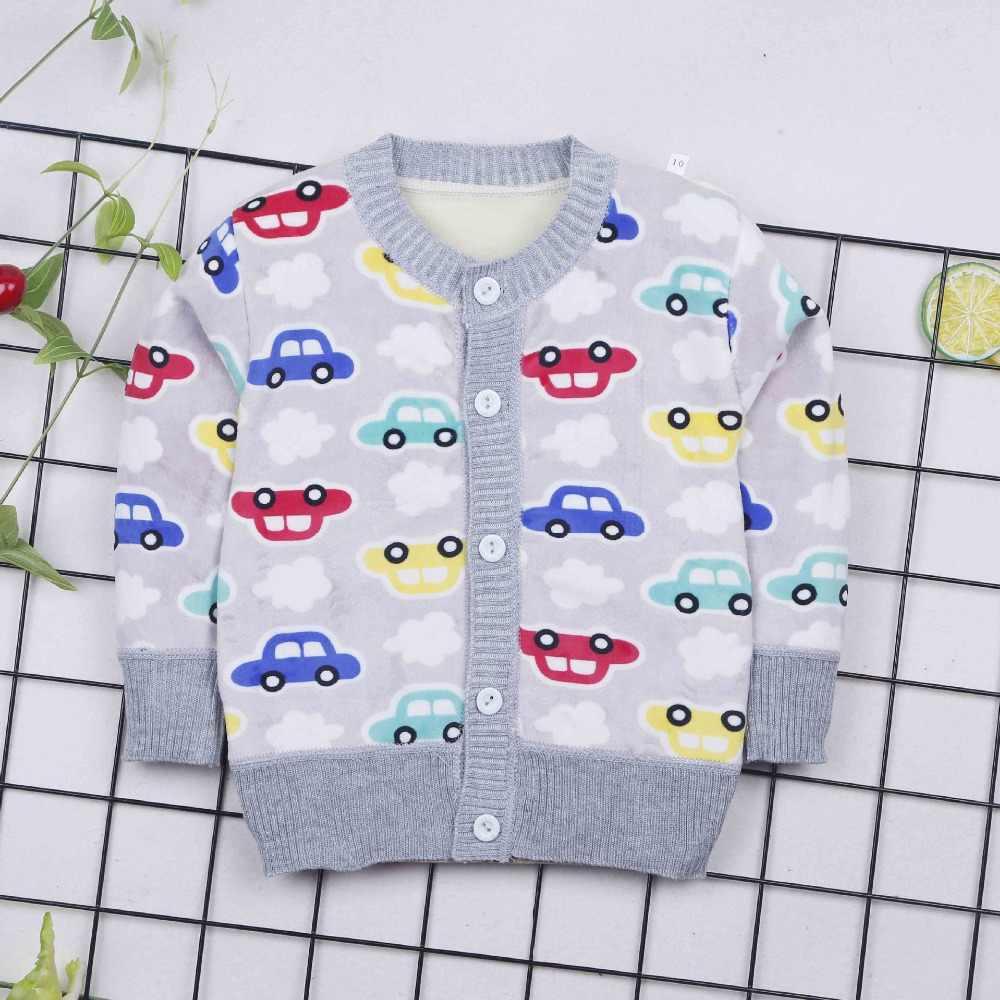 2019 봄 가을 소년 면화 스웨터 아기 소년 따뜻한 옷 0-2yrs 어린이 캐주얼 니트 카디 건 스웨터 유아 티 소녀