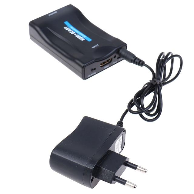 1080p HDMI ל SCART ממיר HD מקלט טלוויזיה DVD אודיו יוקרתי ממיר