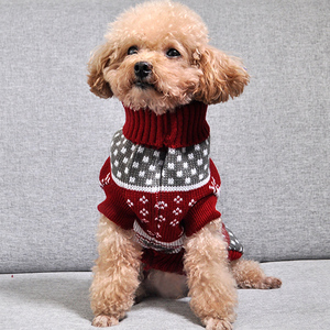 Image 5 - Christmas Cat Dog Sweater Pullover Winter Dog Clothes for Small Dogs Chihuahua Yorkies Puppy Jacket Pet Clothing ubranka dla psa
