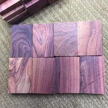 Cuchillo de palo de rosa púrpura, Parche de manija, pulseras artesanales de madera, marcador de tarjetas, 1 ud.