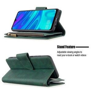 Image 5 - Huawei P 스마트 2020 지퍼 지갑 카드 커버에 대 한 자기 가죽 지갑 케이스 Y5 Y6 Y7 Y9 프라임 2019 전화 케이스 Coque