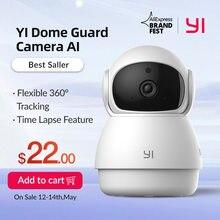 YI Dome Guard Camera 1080p wewnętrzna kamera Ip z zasilaniem AI inteligentne bezpieczeństwo wideo z domu System nadzoru wykrywanie ruchu i ruchu