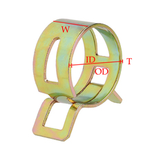10 sztuk 5-22mm zacisk sprężynowy przewód paliwowy fajka wodna zaciski węża powietrza zapięcie cheap CN (pochodzenie) Hydraulika STAINLESS STEEL NONE Zaciski do rur Standardowy Obejma 3247101