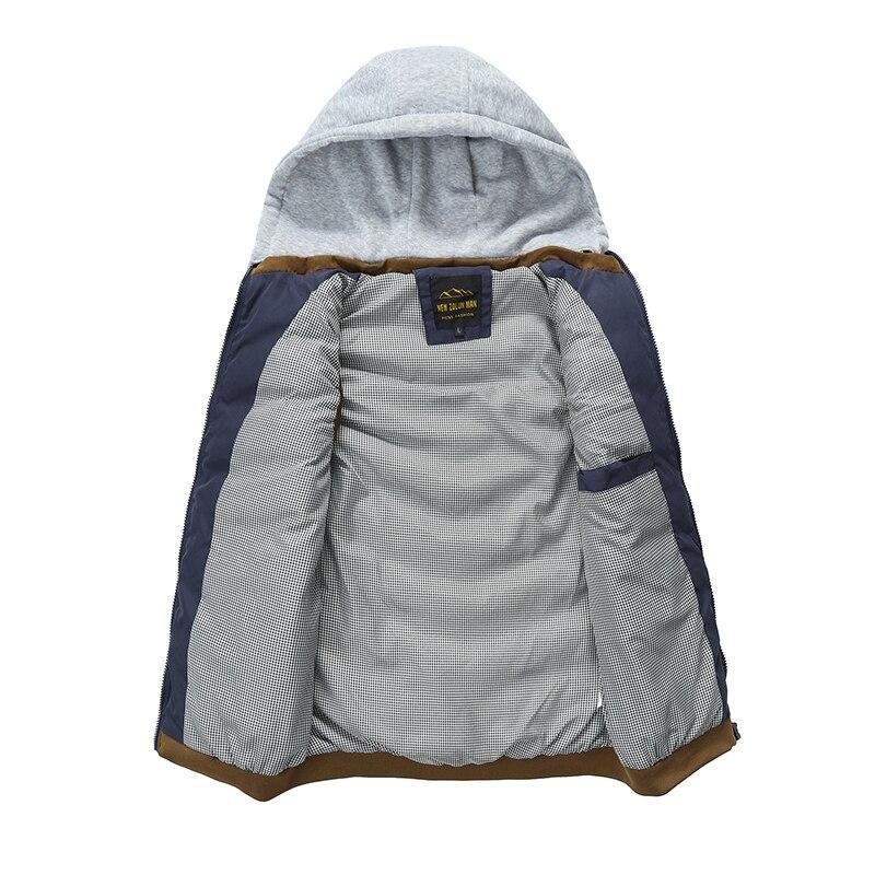 Image 4 - 2019 Men Vest Jackets Autumn Winter Warm Waistcoat Casual Hooded  Sleeveless Vest Coats Fashion mens thick parkas waistcoatsVests