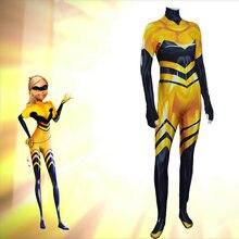 Costume Cosplay reine abeille renard pour enfants, Costume de chat Noir pour enfants, vêtements Rena Rouge Bug Halloween Cosplay Zentai pour adultes