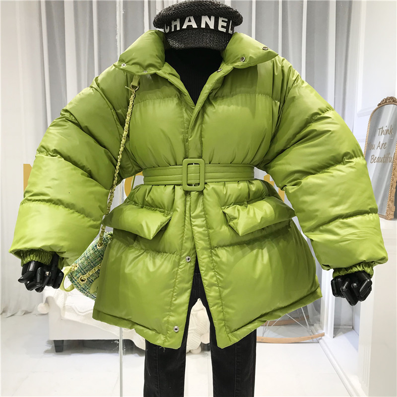 Winter Coat Women Parkas Warm Down Cotton Loose Female Jacket Coat  Ladies With Belt Outerwear Chaqueta Mujer Invierno MY240