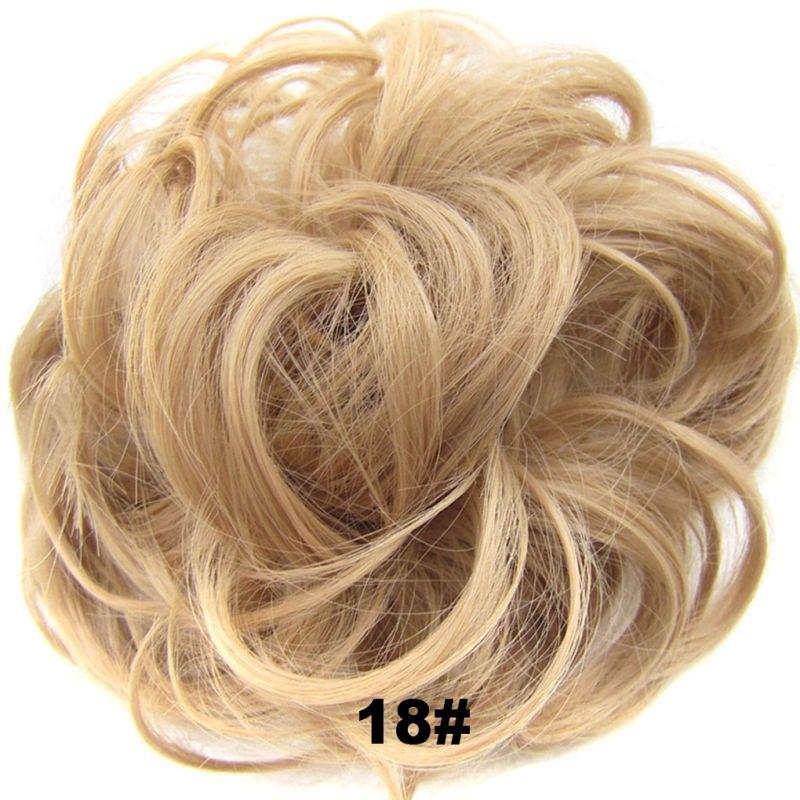 Новые женские высокотемпературные эластичные волнистые кудрявые синтетические шиньоны, аксессуары для волос для женщин и девушек, вечерние - Цвет: as show