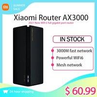 2021 nuovo Xiaomi Router AX3000 5GHz Router Mesh WIFI6 Full Gigabit Mesh WiFi ripetitore 4 antenne rete Extender Router Mesh