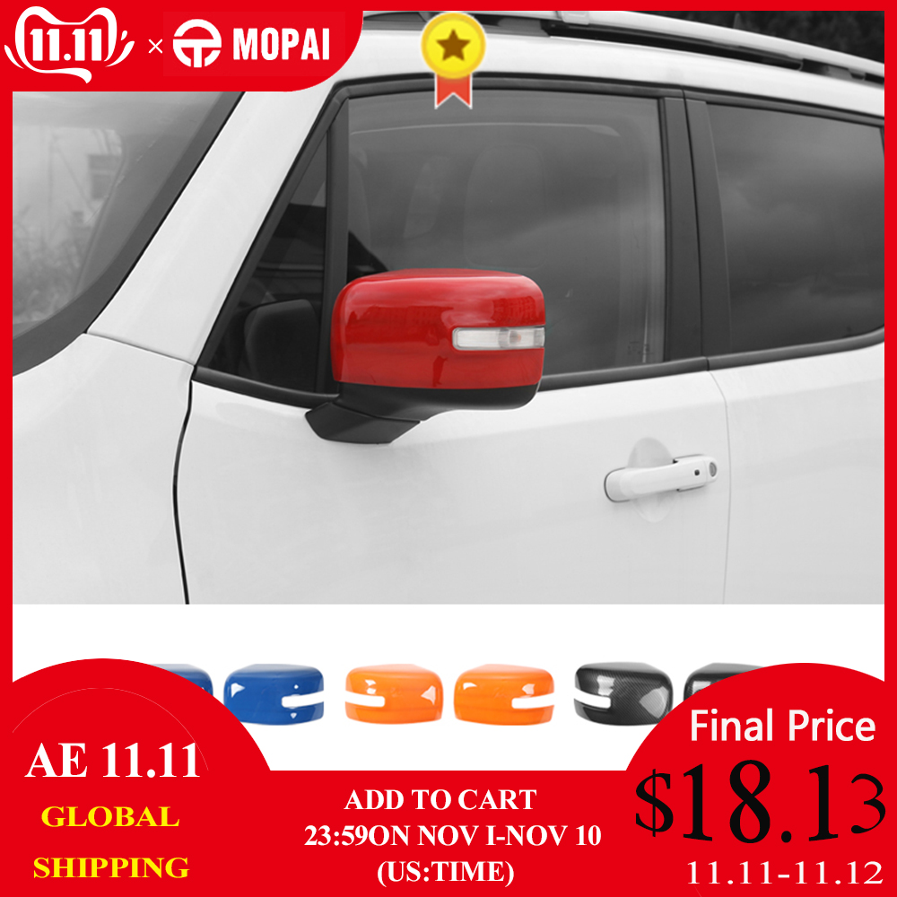 For Jeep Renegade ABS Car Rearview Mirror Cover Candy Colors Trim 6 Avaliable