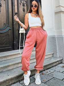Rockmore Trousers Pencil-Pants Oversized Joggers Wide-Leg Streetwear Black High-Waisted