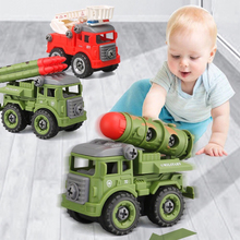 Children Montessori Toys DIY Nut Disassembly Toys Car Model Screw Creative Tool Education Toys for Boys for Children Kids Gift