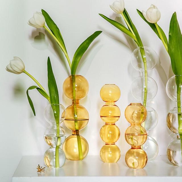Vase en verre de décoration intérieure, Vase en cristal, plantes hydroponiques modernes, frais européens pour mariages, événements, fêtes créatives 1