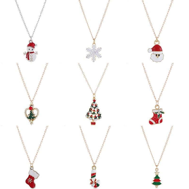 Ожерелье Рождество Серьги Браслеты для женщин девочек рождественские украшения для подарков для дома 2019 Navidad рождественские украшения