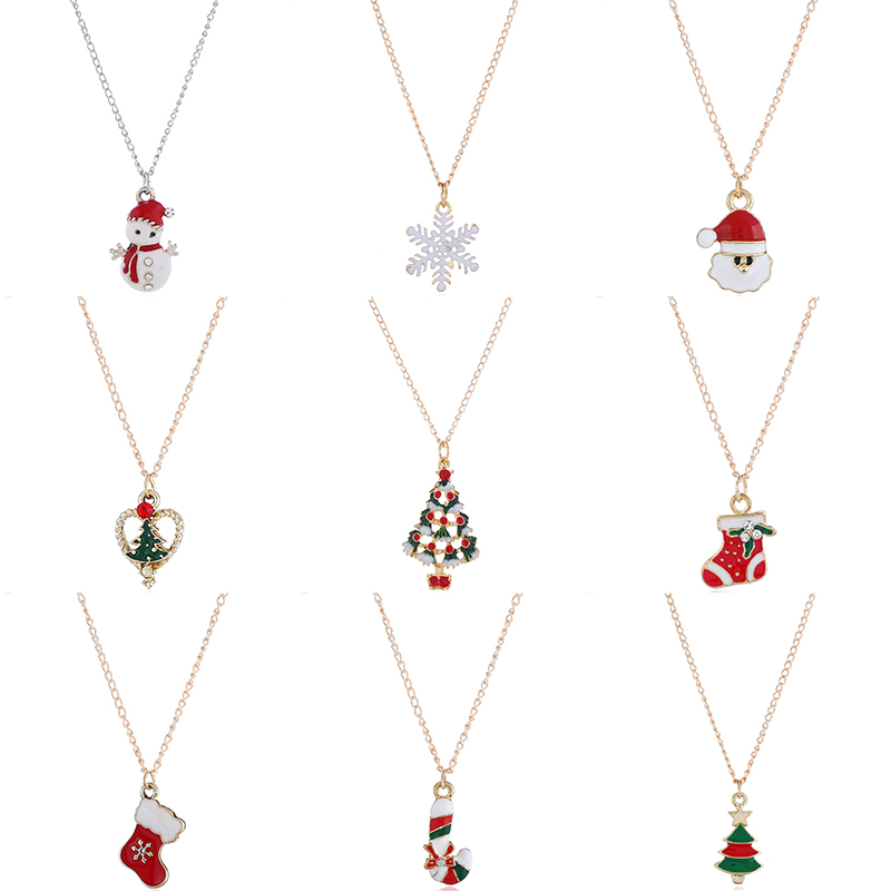 Christmas Pendant Necklaces Earrings For Women Girls Xmas Gift Christmas Decorations For Home 2019 Navidad Christmas Ornaments
