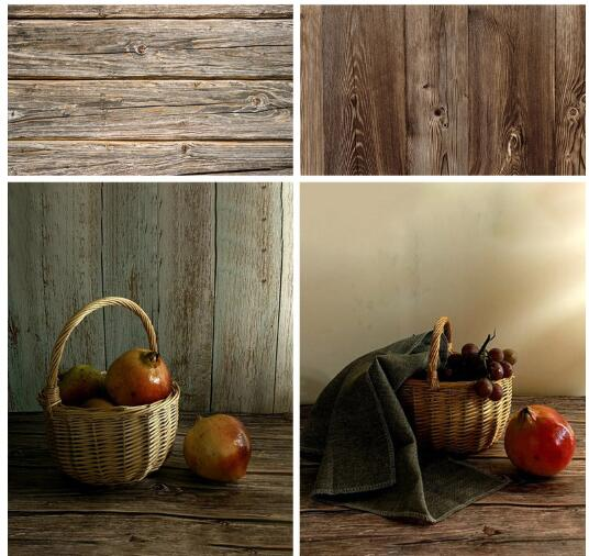Hot Photo Studio 58X86cm 2sides 80colors PVC Photography Wood Backdrops Waterproof Marble Background For Camera Photo