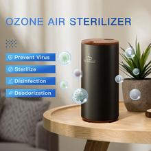 цена на 2017 Newest Portable Mini Ozone Generator Fresh Ozone Air Purifier GX Diffuser Car Home Ionizer USB Battery Ozonizer Air Cleaner