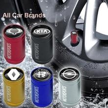 4 pçs de metal tampa da haste da roda do carro tampas válvula pneu acessórios para mini coopers clubman r55 r56 countryman r60 paceman r61 r53 r57