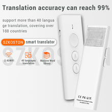 40 Languages Instant Voice Translator Bulgarian interpreter Multi Language Portable Smart Voice Translator for Tourism туризм
