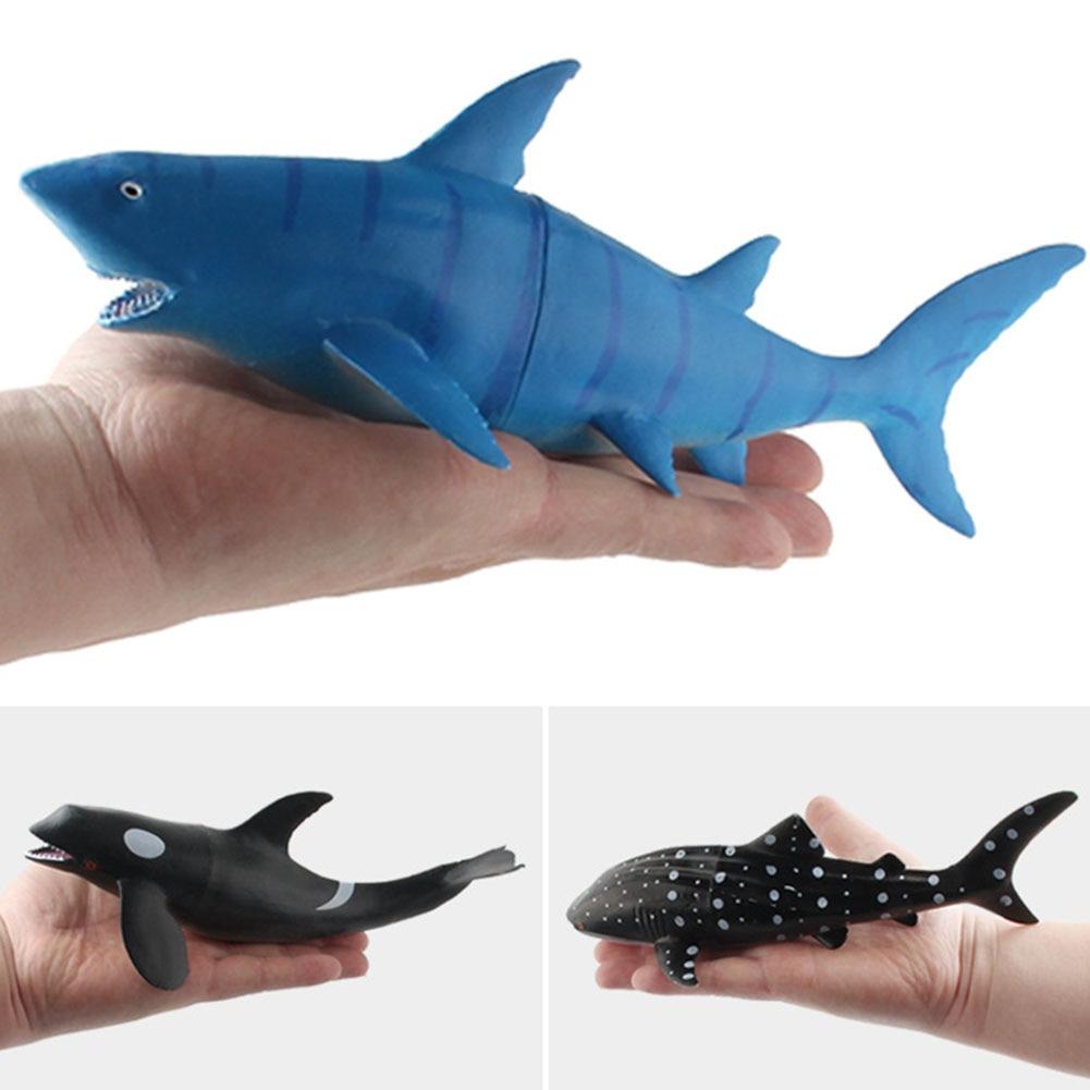 6 pcs simulacao baleia tubarao oceano animal 01