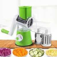 Cortador de legumes slicer redondo batata cenoura ralador cebola slicer com 3 lâminas chopper aço inoxidável acessórios cozinha