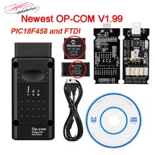 V1.99 opcom com pic18f458 ftdi op-com obd2 ferramenta de diagnóstico do carro para opel opcom pode ser atualização flash 2020 de alta qualidade opcom v1.99