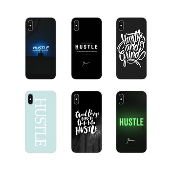For Apple iPhone X XR XS 11Pro MAX 4S 5S 5C SE 6S 7 8 Plus ipod touch 5 6 Hustle HIPHOP Text Accessories Phone Shell Covers image